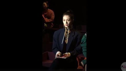 [新闻]190228 看秀初体验!盐系御姐傅菁惊艳亮相Kenzo秀场