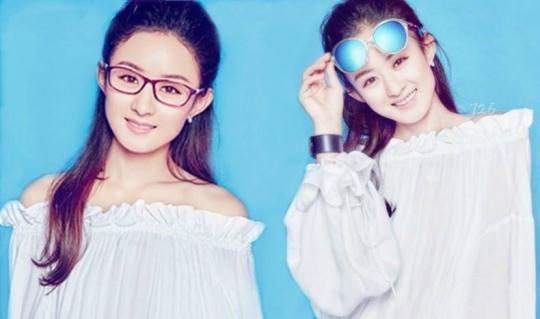 """[赵丽颖][新闻]160206 赵丽颖代言""""浪特梦""""眼镜 酷炫"""
