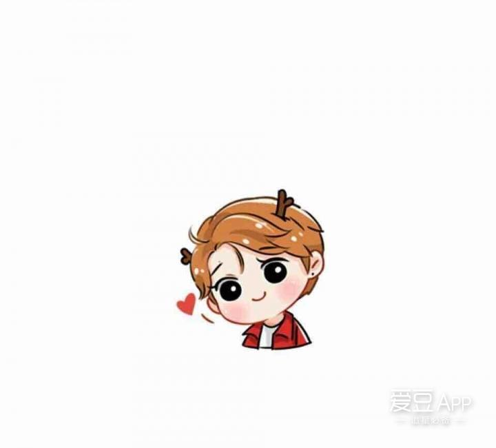 鹿晗微信卡通表情包可爱上线图片