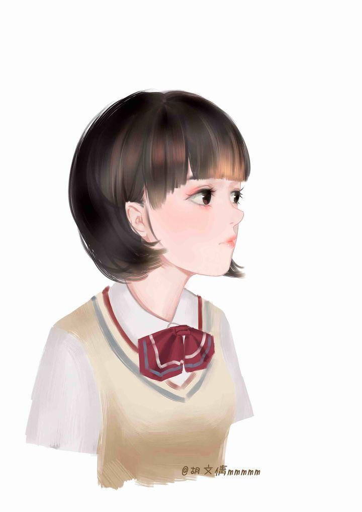 手绘明星郑爽q版