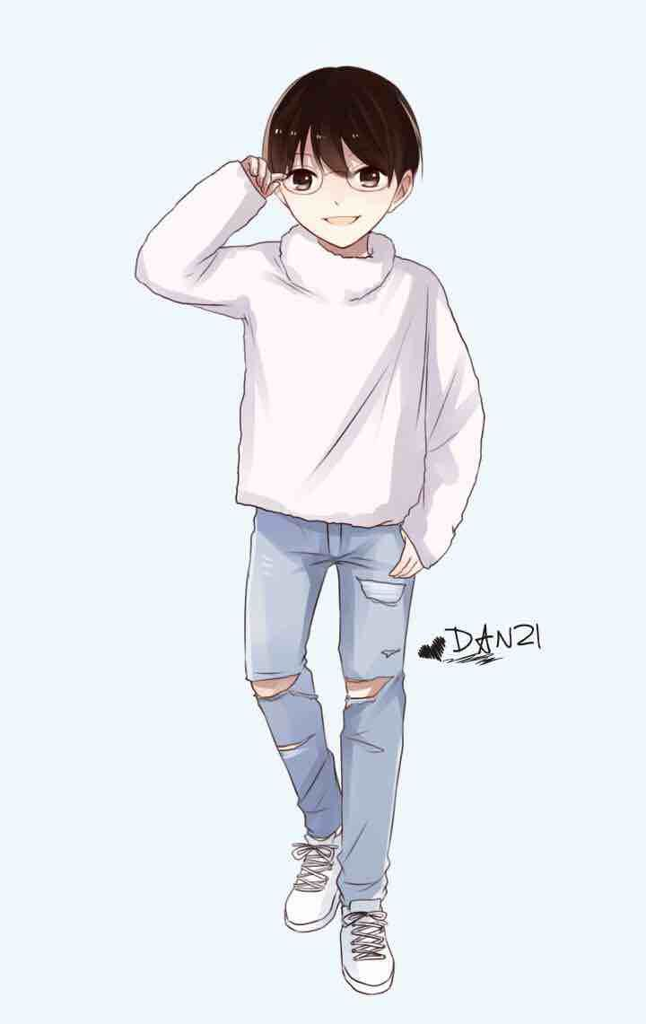 一个又萌,又帅,又可爱的男生卡通qq头像(图片请发给我