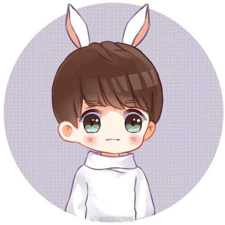[tfboys][分享]170305 王源卡通头像分享:可爱兔耳朵图片