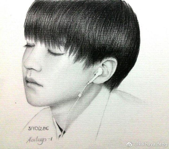 [tfboys][分享]170330 越南小螃蟹工笔描画 手绘王俊凯惟妙惟肖