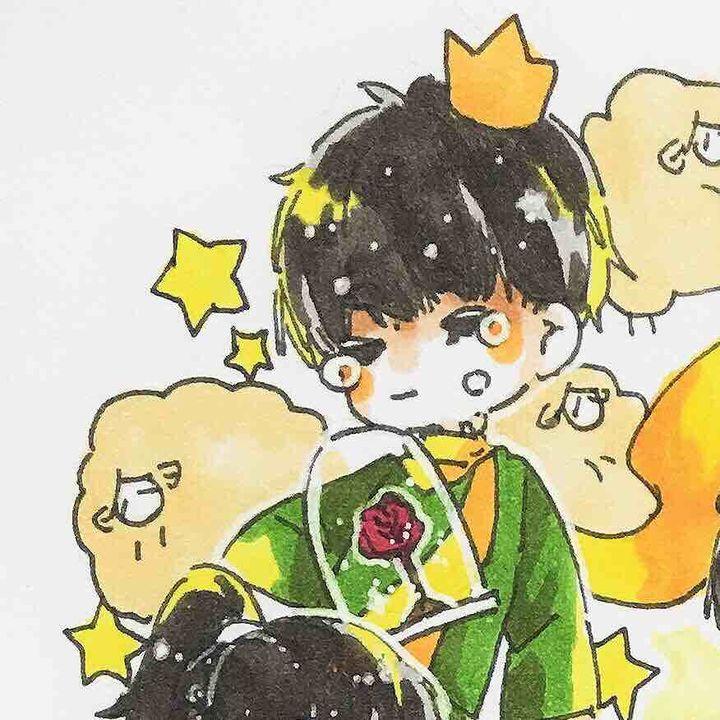 手绘卡通q版王子异