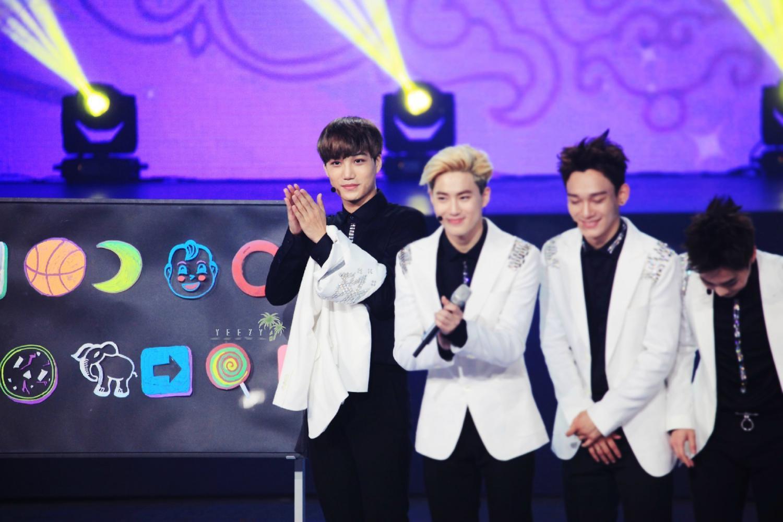 2014exo湖南卫视中秋晚会录制