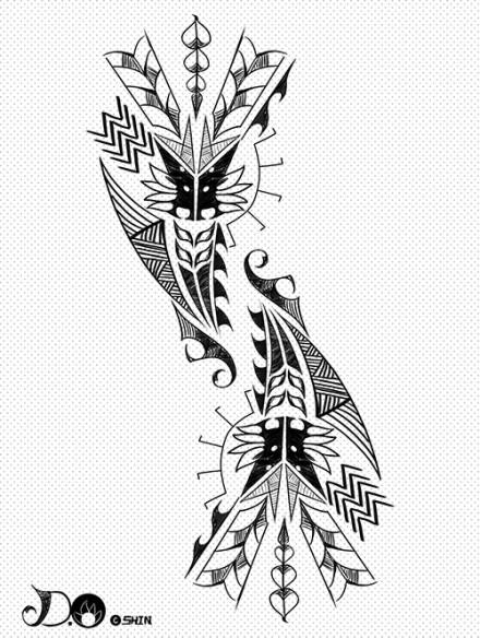 exo笔画纹身分享展示