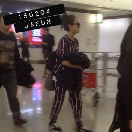 2015宋茜香港机场入境