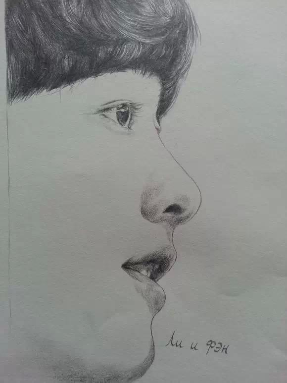 铅笔画手绘明星李易锋