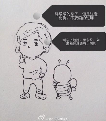 衍纸图纸线稿图案李易峰