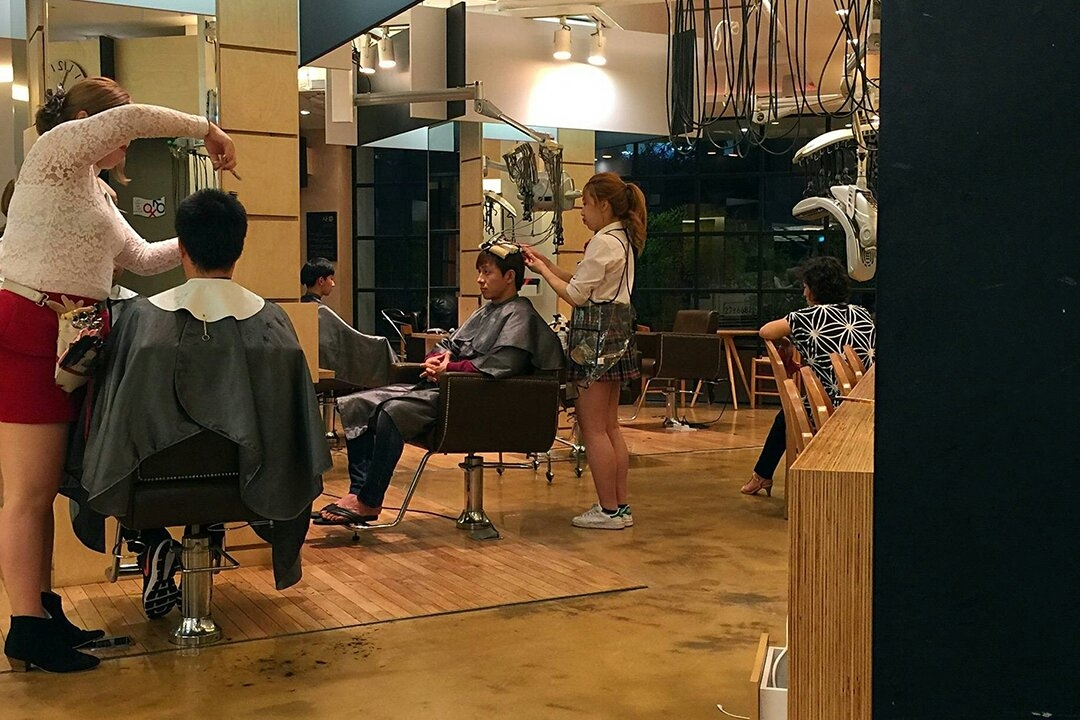 韩国美发店图片