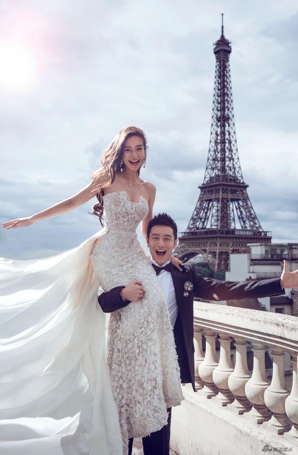[消息]黄晓明baby婚纱照曝光艾菲尔铁塔下见证爱情