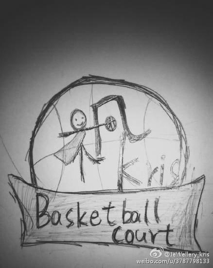 篮球海报手绘黑白