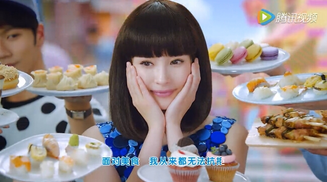 [杨幂][新闻]160330 齐刘海娃娃头少女上线 杨幂秀蜜汁舞蹈图片