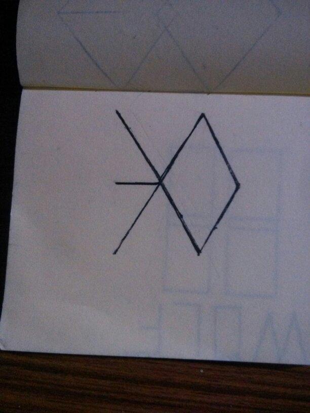 exo异能标志图手绘