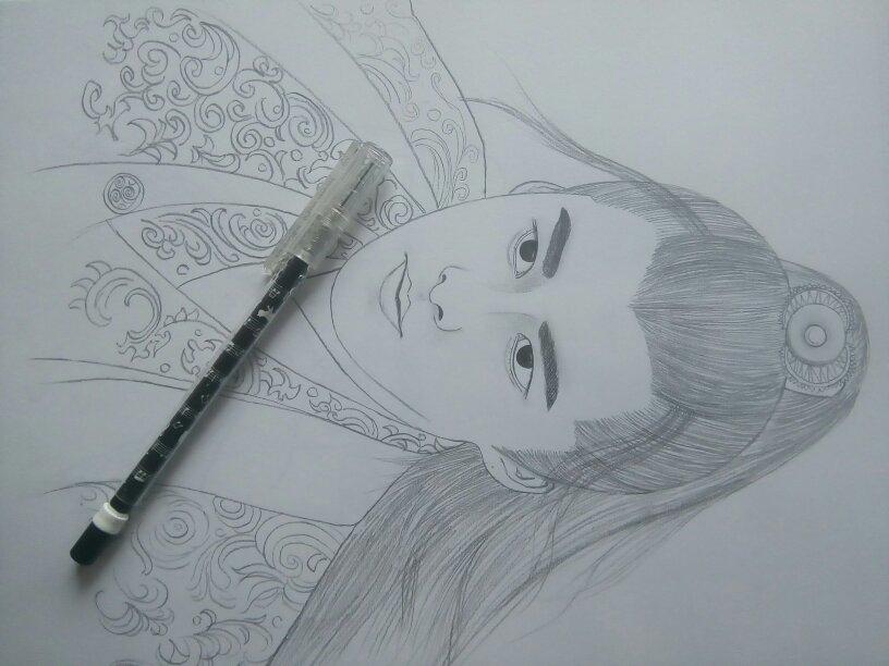 q版李易峰萌图手绘铅笔画