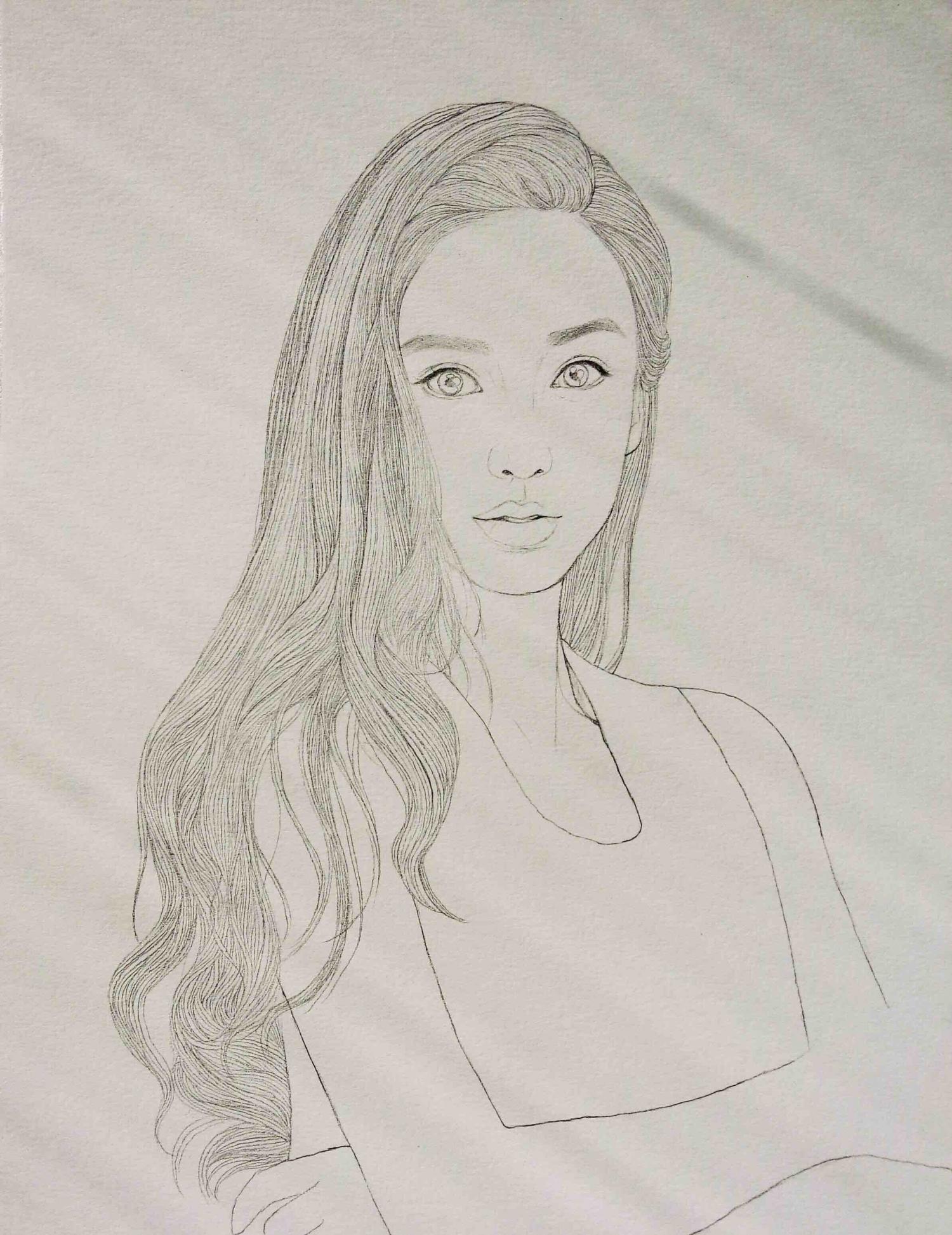 简笔画 手绘 素描 线稿 1500_1945 竖版 竖屏