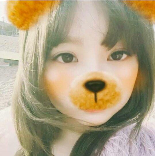 泰妍真的好喜欢滤镜啊,熊宝宝很可爱^ω