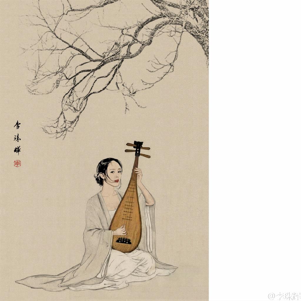 古风免抠素材 琵琶