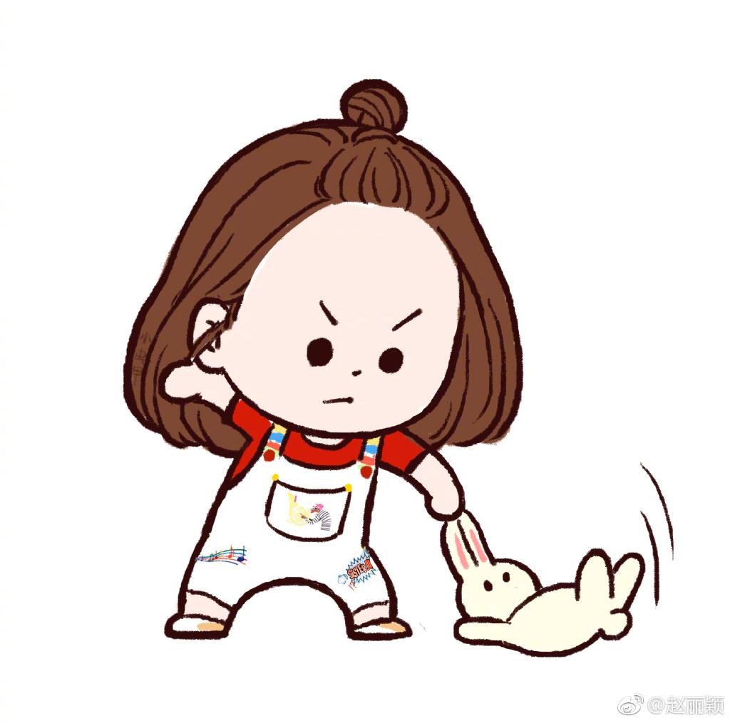 [tfboys][新闻]170723 赵丽颖微博表示:恶人自有天收 卡通形象萌翻