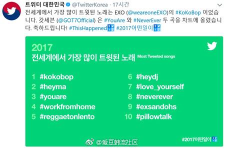 数位单曲什么意思_《 kokobop》成世界发推数一位歌曲
