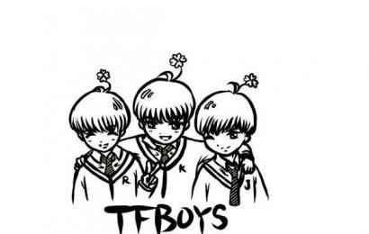 tfboys字母手绘简笔画