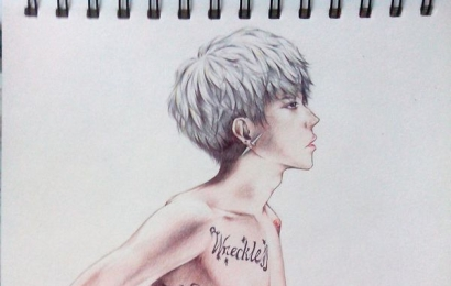 权志龙亲笔手绘图