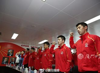 [新闻]180330 国乒男队参观厦门海关 张继科马龙等集体亮相