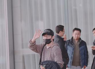 [新闻]190224 白宇北京机场最新路透  靓仔出街心情好