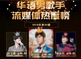 [新闻]190819 19年32期华语男歌手榜排名公开 薛之谦摘得亚军