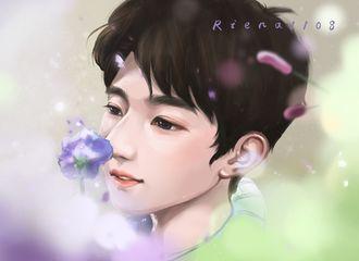 [分享]200117 饭绘王源与花的日常  漫天星辰不及你的笑脸