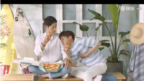 [分享]170623 花絮比正片好看!宋仲基&朴宝剑达美乐披萨广告可爱来袭!