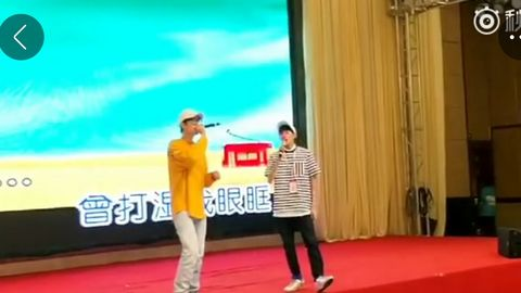 """[TFBOYS][新闻]170822 王源现身""""韩红百人援宁""""活动现场 活泼斗舞!"""