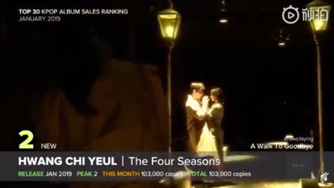 [分享]190204 2019年1月Hanteo专辑销量TOP30 黄致列《The Four Seasons》荣登亚军!