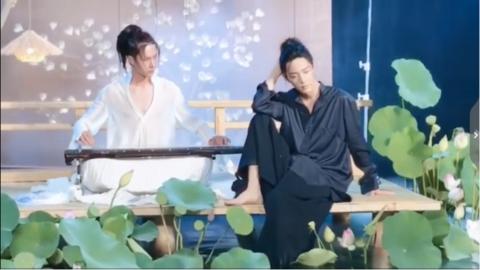 [新闻]190804 肖战《时尚芭莎》古风大片拍摄花絮分享 四季场景美如画