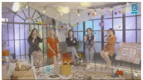 [Red Velvet][分享]190822 Red Velvet昨日VLIVE带来《Umpah Umpah》和《Ladies Night》的首Live演唱