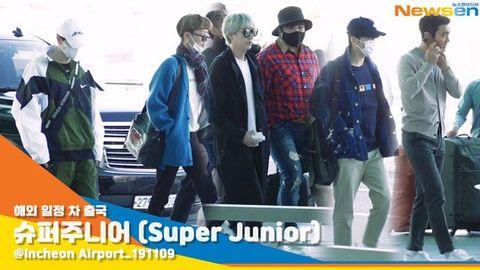 "[Super Junior][新闻]191109 SJ的""机场时尚模版""期待哥哥们在新加坡的舞台~"