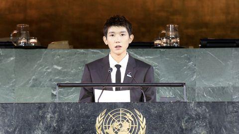 [TFBOYS][新闻]191121 王源联合国大会中文演讲,携手共创儿童的未来