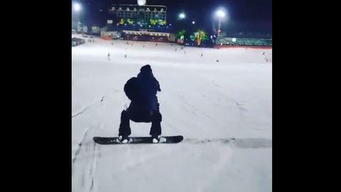 [分享]200121 嘿!来人啊捉到一只在雪上飞驰的运动小能手