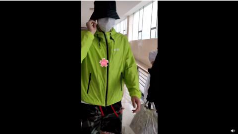 [新闻]200705 李易峰今日上班路透发送 小绿草百米冲刺的上班路