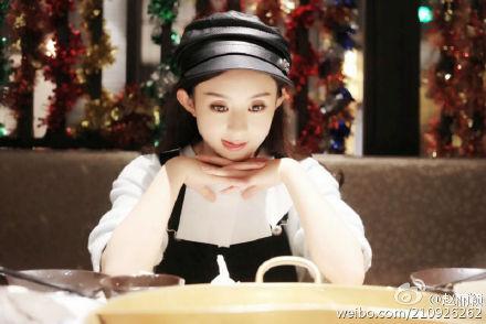 [新闻]160425 赵丽颖微博高调示爱:静静看着你我就很满足