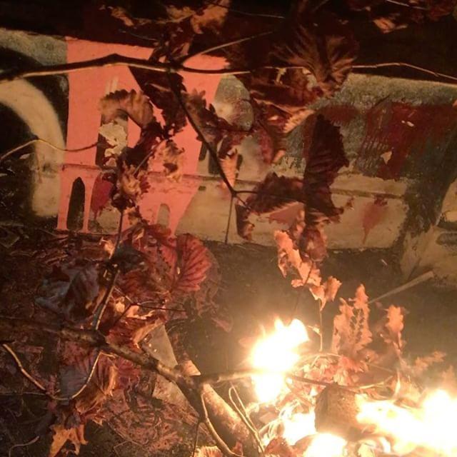 [新闻]161125 MIN更新INS:三更半夜烧树枝??