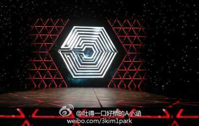 [新闻]140419 网友微博公开EXO-M音乐榜上榜舞台