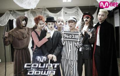 [新闻]141030 MNET官推更新BTS成员万圣节装扮合照