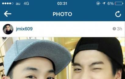 [新闻]150419 友人 Instagram更新Jackson BamBam相关合照