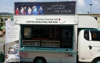 [分享]150715 SBS人气歌谣预录 Infinite为粉丝准备的餐车