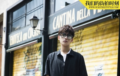 [分享]150803 杨洋《我们的街拍时刻》 帅气的黑色cool boy