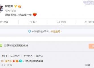 [分享]160531 林更新更博为袁弘张歆艺夫妇送祝福
