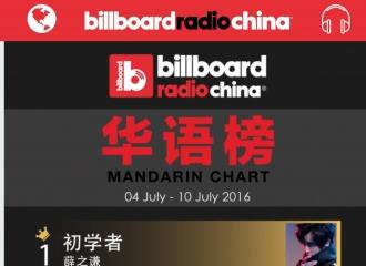 [新闻]160711 薛之谦《初学者》蝉联Billboard四周冠军
