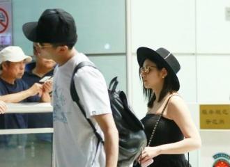 [新闻]160924 陈妍希现身机场孕肚凸显 陈晓提大箱被赞好老公
