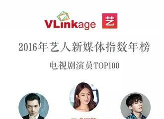 [新闻]170113 2016艺人新媒体指数年榜公开 胡歌喜获年度第二